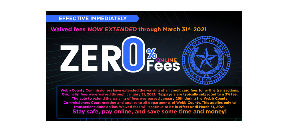 Waive Online Fees