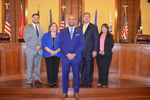 Webb County Commissioners Picture, left to right, Jesse Gonzalez, Wawi Tijerina, Tano Tijerina, John Galo, Cindy Liendo